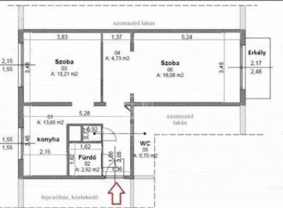 Adria sétányon eladó 53 nm-es lakás