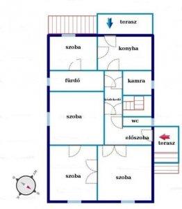 Zuglóban eladó 100 nm-es családi ház